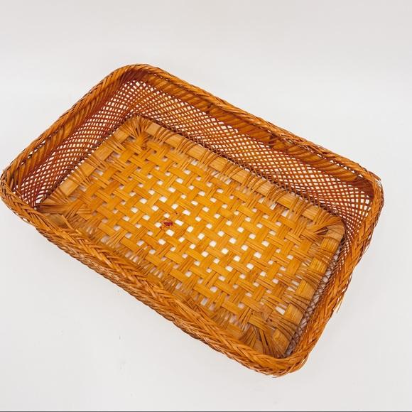 Vintage Woven Basket Boho Natural Wall Decor